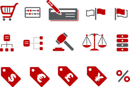 Vector icons pack - Red Series, money collection Vector
