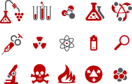 Vector icons pack - Red Series, research collection