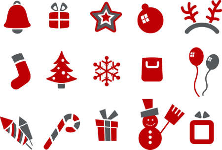 Vector icons pack - Red Series, Christmas collection Stock Vector - 5057539