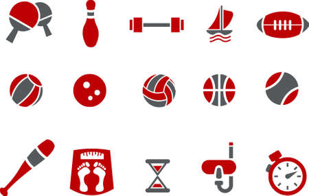 Vector icons pack - Red Series, sport collection