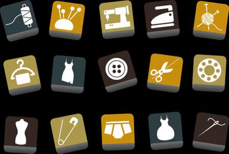 appendini: Vector icone pack - giallo-marrone-blu Series, taylor collezione Vettoriali