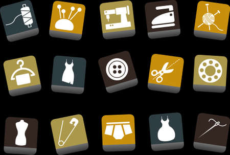 Vector icons pack - Yellow-Brown-Blue Series, taylor collection Illustration