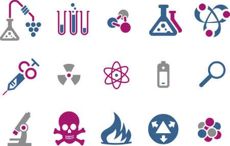 embrion: Pack de iconos vectoriales - Serie Azul-Fucsia, la investigaci�n de recogida