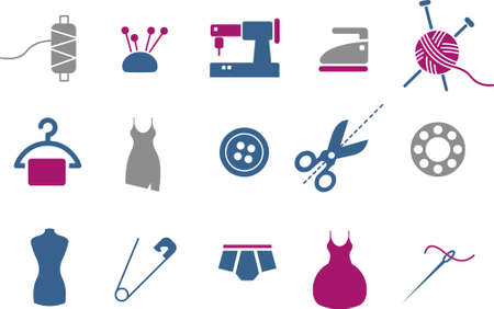 Vector icons pack - Blue-Fuchsia Series, taylor collection Vector