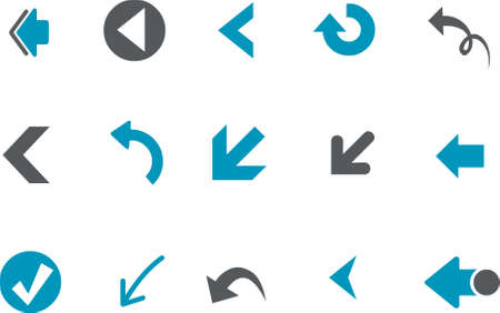 Vector icons pack - Blue Series, arrows collection Vector