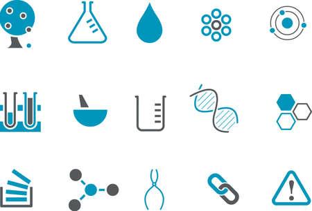 Iconos Vector pack - Serie Azul, la colección de química