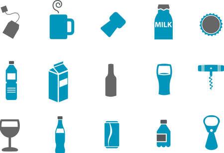 latas: Pack de iconos - serie azul, beber de la colecci�n de vectores