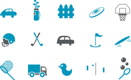 Vector icons pack - Blue Series, outdoor collection Stock Vector - 5601360