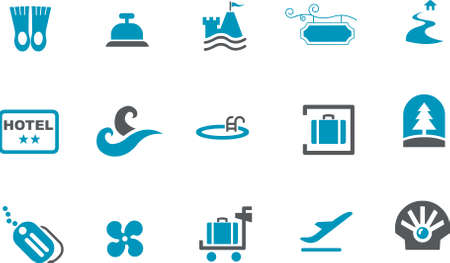 Vector icons pack - Blue Series, sea collection Illustration