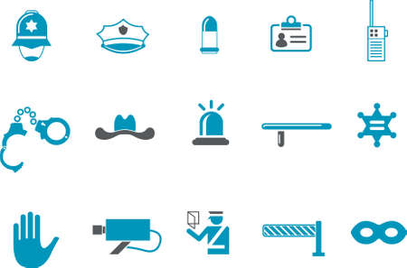 burglar alarm: Vector icons pack - Blue Series, security collection