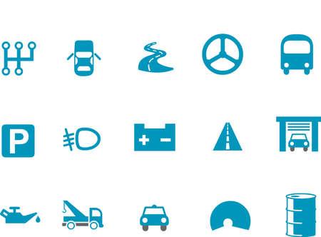 breakage: Vector pack de iconos - serie azul, colecci�n de transporte Vectores