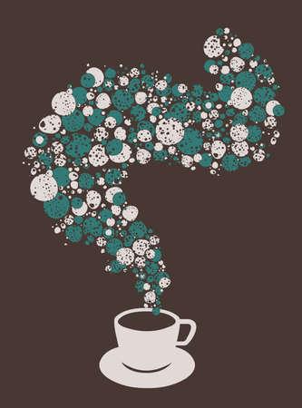 Tea cup fantasy with bubbles Vector