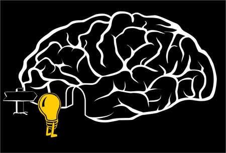 A new idea is coming in the brain Vector