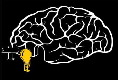 Una nueva idea viene en el cerebro