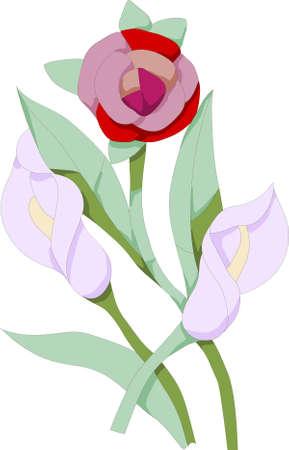 model of flower, on white background