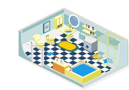 Furniture and objects generally used in a bathroom