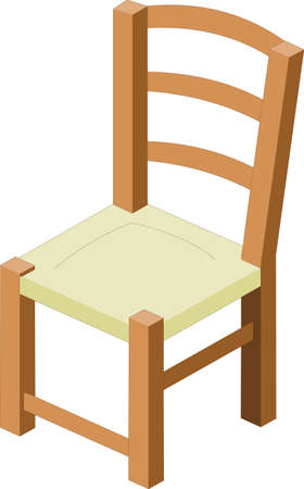 model of chair, on white background Stock Vector - 6381176