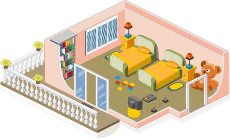 estrofa: Muebles y objetos que se utiliza generalmente en una habitaci�n de los ni�os