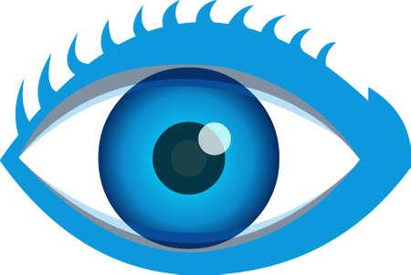 overlook: A close-up of an eye