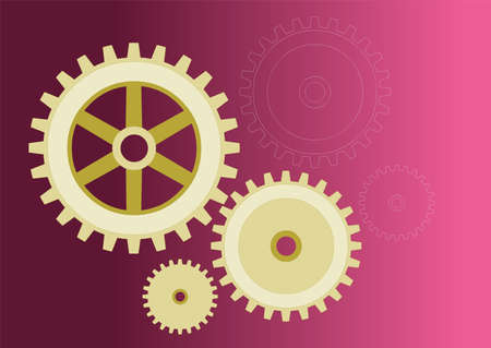 model of gears, in 3 different versions Stock Vector - 6381179