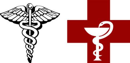 simbol: Caduceo simboli nelle versioni doppie  Vettoriali