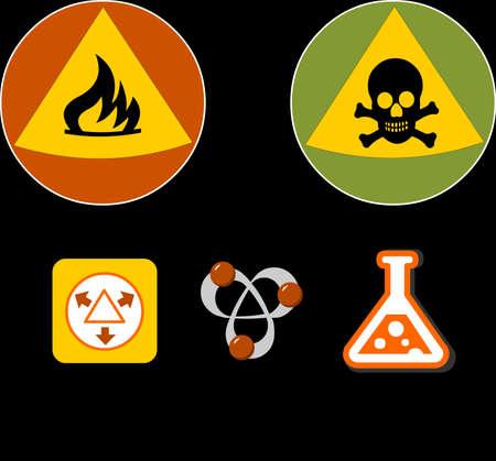 alt: Toxic simbols on black background