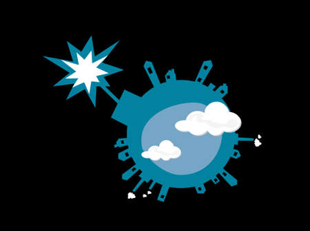 Bomb-like earth exploding for pollution Stock Vector - 6381045