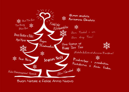 Christmas wishes in several languages Stock Vector - 6381052