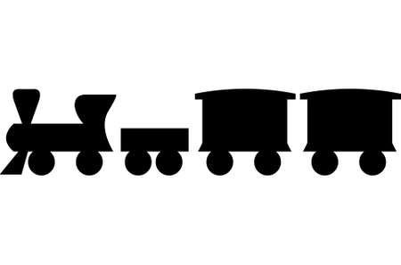 Little train on white background Illustration