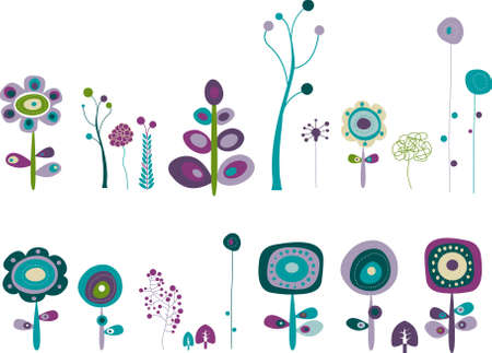 Series of space flowers for your garden Vector