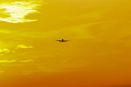 airplane on a yellow background