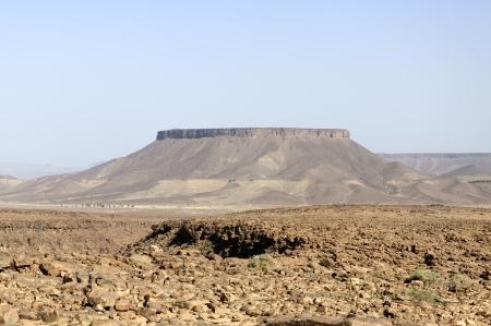 Morocco, Hamada du Draa  Draa stone desert, mountain Stock Photo