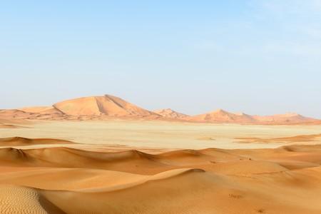 to rub: Sand dunes in Rub al-Khali desert, Dhofar region  Oman  Stock Photo