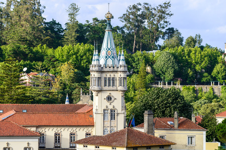 sintra: Tower of the city hall in Sintra  Portugal