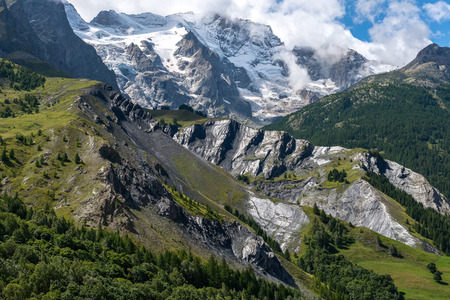 Alpes: Meije glacier near La Grave, department of Hautes Alpes (France) Stock Photo