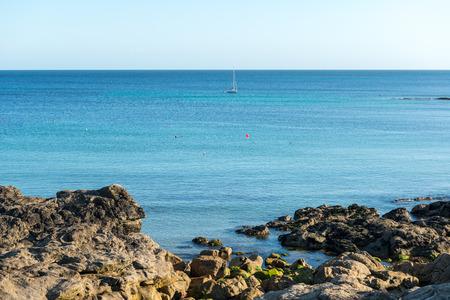 loc: Cliffs and sailing boat, Le Loc