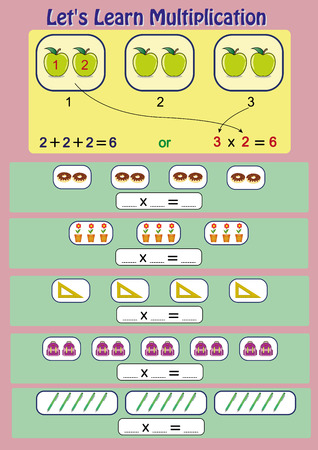 lets learn multiplication, mathematical activity, multiplication worksheet for kids, printable