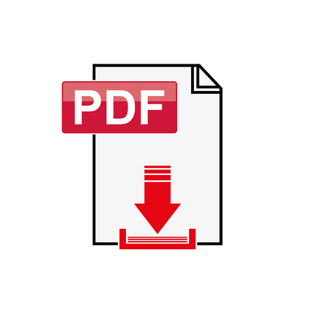 Pdf file download icon flat graphic design