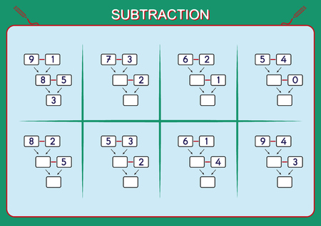 Practice Your Subtraction 0 To 10, Math Worksheet For Kids Royalty ...