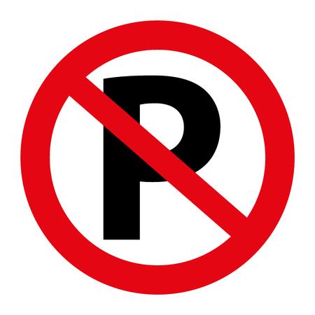 Stock Illustratie Verkeer geen parkeer teken grafisch geïsoleerd op wit