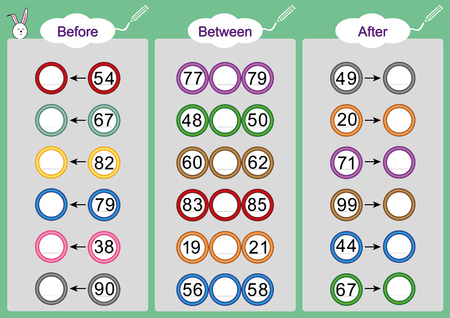 What Comes Before Between And After Math Worksheets For Kids