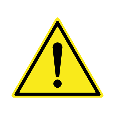 Exclamation sign, Danger Warning, Isolated, Caution icon. Warning symbol Vector illustration.