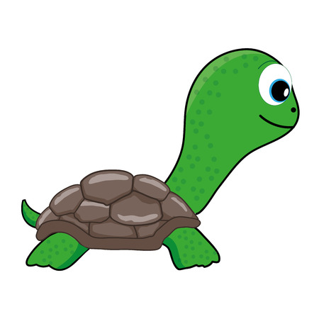 Cute Green Turtle vector illustration 矢量图像