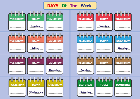 days of the week worksheets, Trace and write the days of the week, kids for worksheets