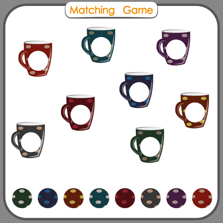 matching game, Find missing part, Visual Educational Game for kids, printable worksheet