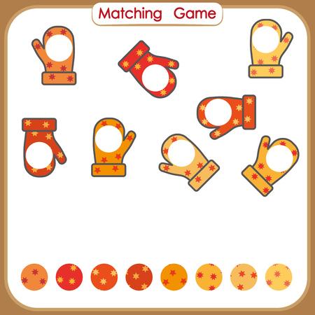 Visual Educational Game for kids, worksheet Иллюстрация