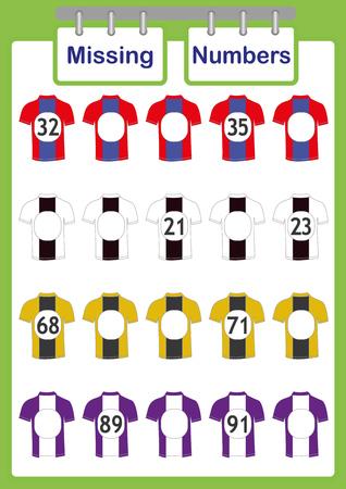 écrire les nombres manquants, mathématiques pour les enfants, jeu éducatif de comptage pour les enfants Vecteurs