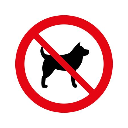 No dogs allowed, warning sign isolated signage, dog stop, Not allowed