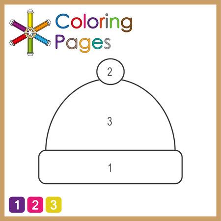 Malvorlagen für Kinder, färben Sie die Teile des Objekts nach Zahlen, Farbe nach Zahlen, Aktivitätsseiten