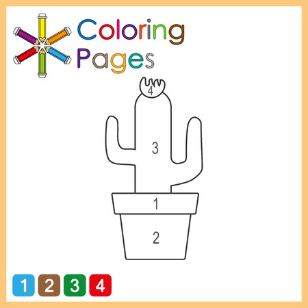 coloring page for kids, color the parts of the object according to numbers, color by numbers, activity pages